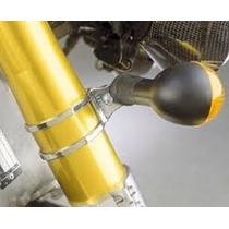 Suporte Cromado Pisca Moto Bobber Cafe Racer Universal