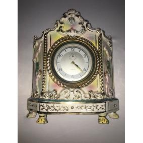 Relógio Antigo Veglia Em Louça Capo De Monte