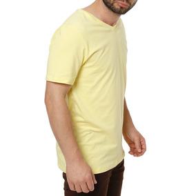 Camiseta Manga Curta Masculina Amarelo