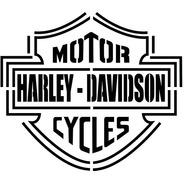 Las Lupes  - Stencil Harley - 18 X 24cm