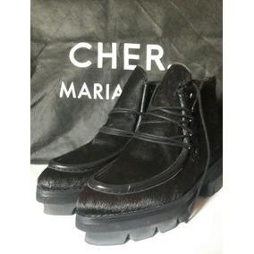Maria Cher Off/bota Cuero C/pelo#36/sarkany/mishka/prune/...