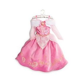 Vestido Fantasia Princes Disney Bela Adormecida Aurora Tam3