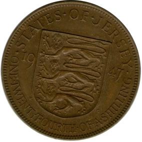 Spg Bailiwick Of Jersey 1/24 Shilling 1947 Jorge Vi