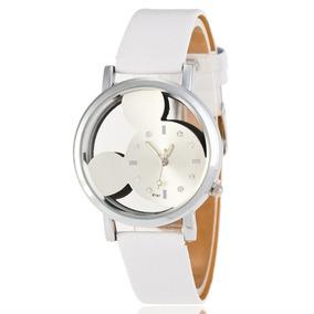 Reloj Pulsera Disney Mickey Mouse Blanco Mujer Envío Gratis