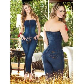 Macacão Jeans Corset Atenção Ao Prazo De Envio 25 Dias