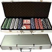 Maleta De Poker Com 500 Fichas Não Numeradas Kit Completo