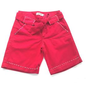 Bermuda Jeans Feminina-vermelha Gup´s Jeans
