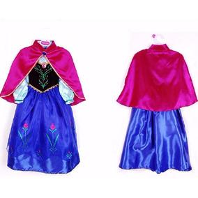 Fantasia Vestido Frozen Princesa Ana Anna Vestido + Capa