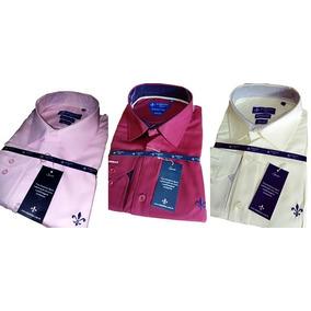 Kit 3 Camisas Social Dudalina Masculina Slim Fit