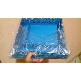 Kit De Bandejas Coloridas Em Mdf