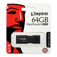 Pendrive Kingston Datatraveler 64gb Usb 3.0 Garantia Oficial