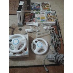Nintendo Wii,2 Controles,5 Juegos,1 Protector, 2 Controlesdc
