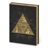 Libreta Zelda Metal Triforce Premium Diario Escudo Metalico