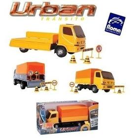 Caminhão Urban Carreta Trânsito C/ Placas - Roma Brinquedos