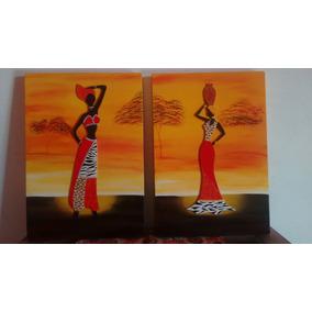 Cuadros Africanas Artesanales