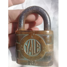 Candado Yale Towne Usa Antiguo 1920 M Bueno Sin Llave Bronce