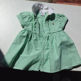 Vestido Verde Ralph Lauren Para Bebe 6 Meses