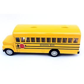 Onibus Escolar Americano Scool Bus Metal Miniatura 1 43