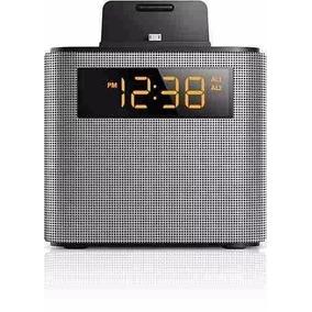 d9e3f1a982d Radio Relógio Philips Ajt3300 Bluetooth Iphone Dock Speaker