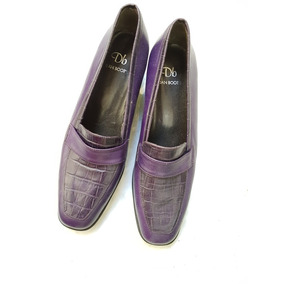 Zapatos De Cuero Violeta