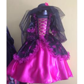 Vestido Disfraz Catrina T 10 Niña Brujita Halloween
