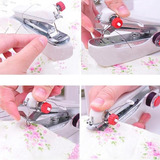 Mini Máquina De Costura Manual Portátil De Mão Tecido Barata