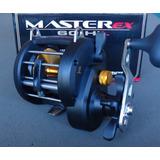 Carretilha Pesca Master Ex 60 Hil Marine Sports 7r. Esquerda