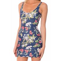 Vestido Una Pieza Floral Verano Spandex Sin Mangas Casual