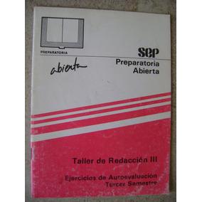 Preparatoria Abierta Evaluacion Taller Redaccion 3. Sep