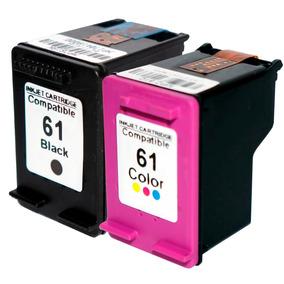 Kit Cartucho Hp 61 Preto + 61 Colorido 1050 1051 2050 3000