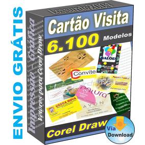 Cartão De Visita São 6.100 Modelos Extensão Cdr Corel Draw
