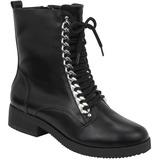 Bota Feminina Via Marte Ankle Boot Coturno 18-3303 - Preto