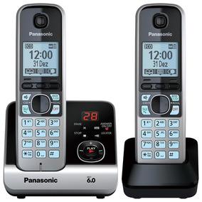 Telefone Sem Fio Kxtg6722lbb Secretária Eletrônica Panasonic