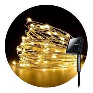 Alambre Luces Led 10 Metros Con 3 Efectos Solar Navidad