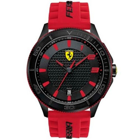 Relógio Scuderia Ferrari Masculino Borracha Vermelha 830136