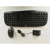 Kit Teclado Mouse Inhalambrico Logitech Ex 100