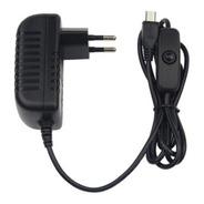 Cargador Micro Usb 5v 3a Con Boto On/off