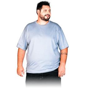 Camisetas Plus Size Masculina Algodão Penteado Lisa Camisa