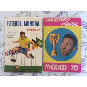 Álbum Copa 62 Vecchi E Copa 70 Sádira Em Ótimo Estado