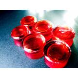 Alargador Plug Em Acrílico C Sangue Artificial De 6mm A 22mm