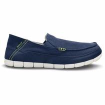 Crocs Stretch Sole Loafer Hombre Mujer Azul Todos Los Numero