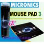 Pad Mouse Micronics En Color Negro P/ Mouse Opticos Y Laser