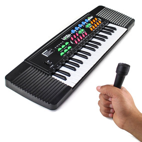 Teclado Infantil + Microfone Efeitos Música Pilha Tomada