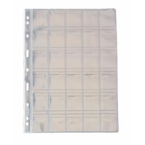 Folha Plastico Moedas 30 Divisões Pccb/mingt Com Aba (49458)
