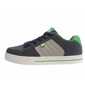 Zapatillas Skate Cuero Gray-green Hombre Envio Gratis