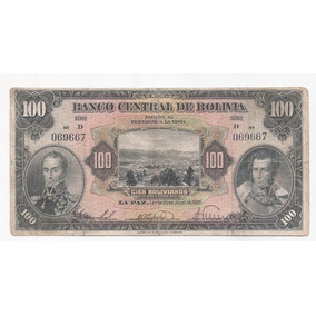 Bolivia Billete De 100 Bolivianos Ley 1928 Pick 125 !