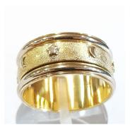 Anillo Oro 18k Detalles Oro Blanco 5,4grs N°18 Brumat