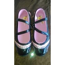 Zapatos Floricienta Color Negro Para Niña (talla 36)