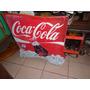 Cartel De Coca Cola Chapa Doble Cara Colgante