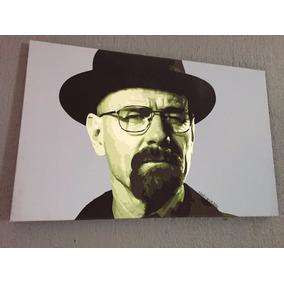Cuadro Pintura Obra De Arte Oleo Heisenberg Breaking Bad Wal